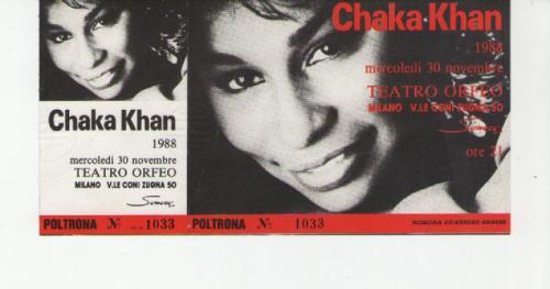 Chaka Chan milano 30 novembre 1988 località varie