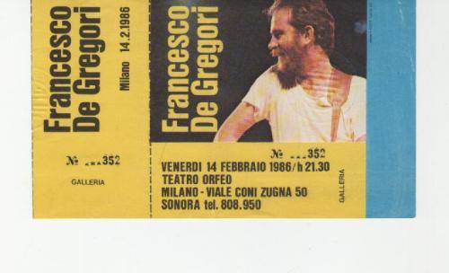F. De Gregori 1986 località varie