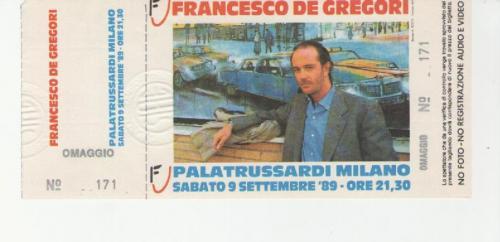 F. De Gregori 1989 località varie