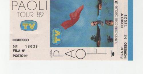 Gino Paoli 12 maggio 1988 Milano palatrussardi
