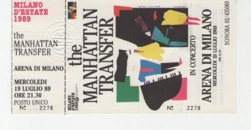 Manhattan 11 luglio 1990 Arena MilanoTransfert
