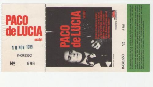Paco De Lucia 18 novembre 1985 Teatro Orfeo