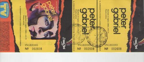 Peter Gabriel Milano 5 luglio 1983
