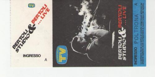 Pierangelo Bertoli 18 aprile 1989 Teatro Orfeo