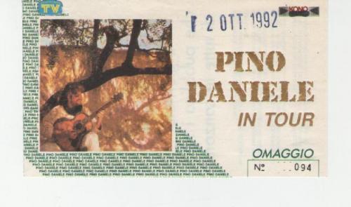 Pino Daniele Milano 2 ottobre 1992