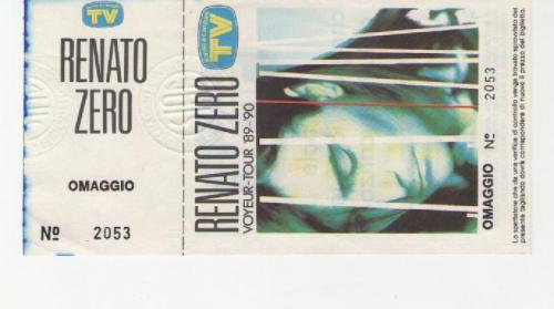 Renato Zero 1990 località varie