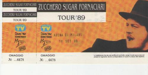 Zucchero 19 settembre 1989Arena di Milano